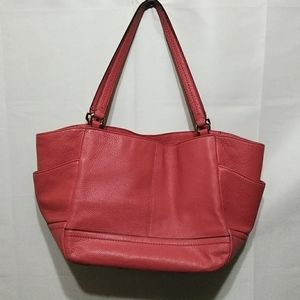 Coach Bags - Coach Leather Salmon Women Tote Purse Bag Handbag